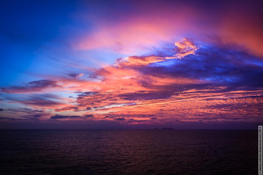 Как на фото сделать красивый закат в
